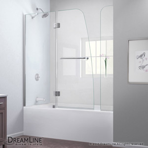 bathtub units enclosures single shower double bathroom sliding tub corner frameless door full doors glass