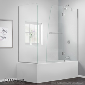 Aqua Hinged Tub Door with Return Panel