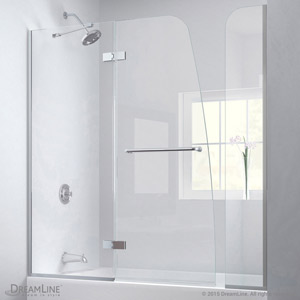 Aquaultra Hinged Tub Door With Extender Panel