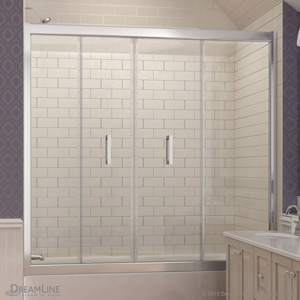 butterfly tub door bifold - Bathtub Shower Doors