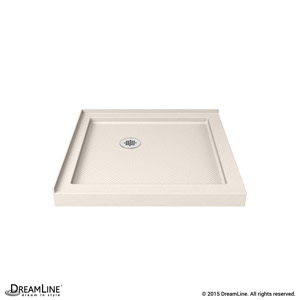 Double Threshold Shower Base in Biscuit Color