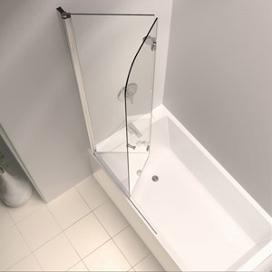 DreamLine showers: EZ-fold Hinged Tub Door