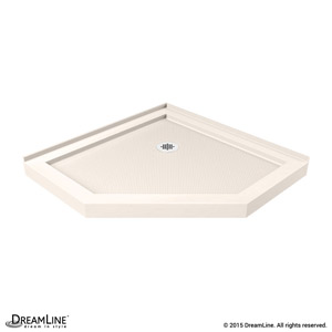 SlimLine Neo Angle Shower Base in Biscuit Color
