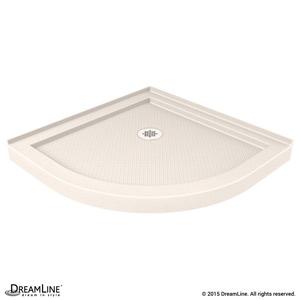 SlimLine Quarter Round Shower Base in Biscuit Color
