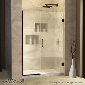 Frosted Glass Shower Doors unidoor plus half frosted glass shower door