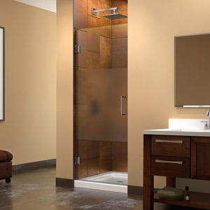 Unidoor Privacy Glass Shower Door