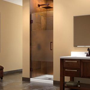 unidoor privacy glass shower door. Black Bedroom Furniture Sets. Home Design Ideas