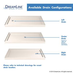 SlimLine Shower Base Drain Configurations