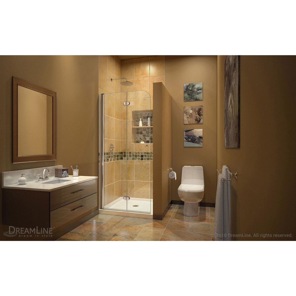 Interior clear glass door - Dreamline Aqua Fold Shower Door 33 5 In