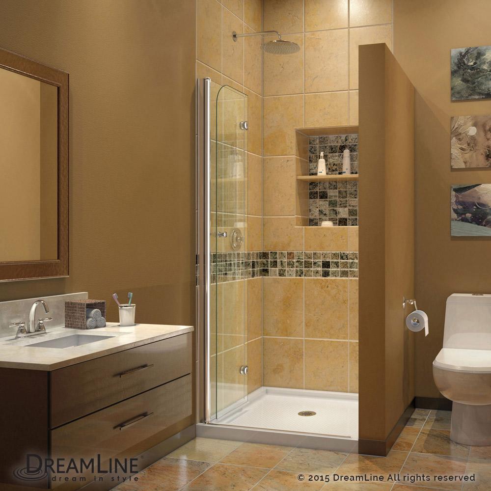 DreamLine Aqua Fold Shower Door 33.5 in. W x 72 in. H Clear Glass ...
