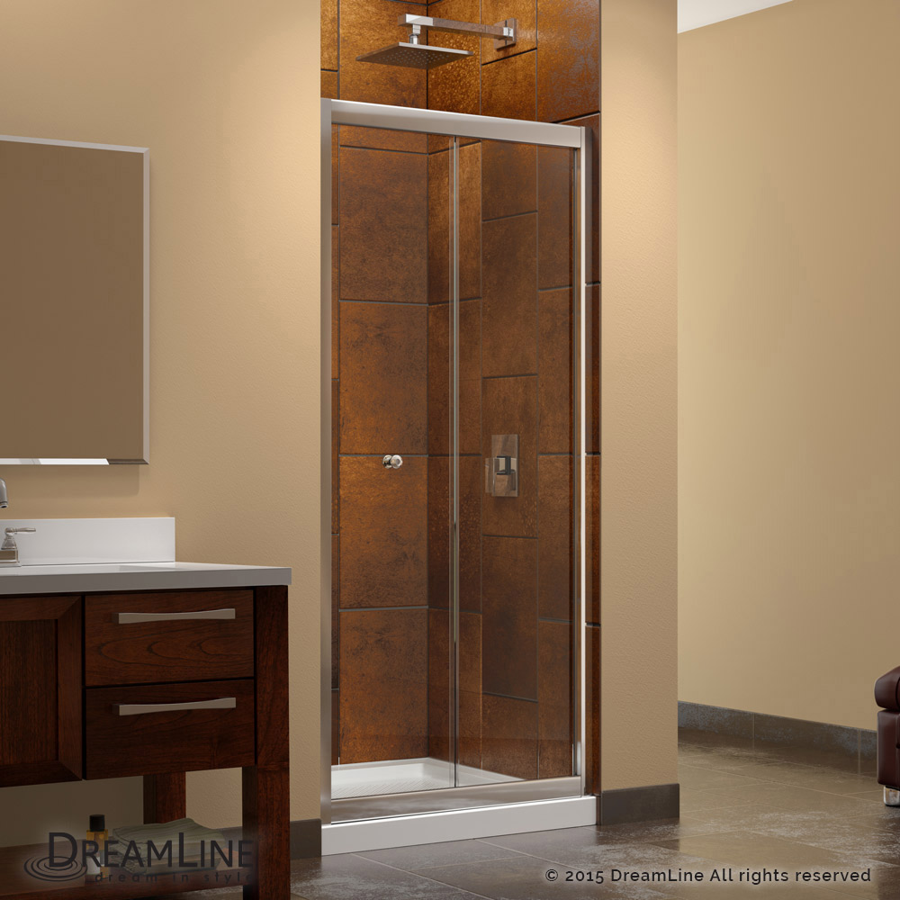 Butterfly Bi-Fold Shower Door & Base Kits
