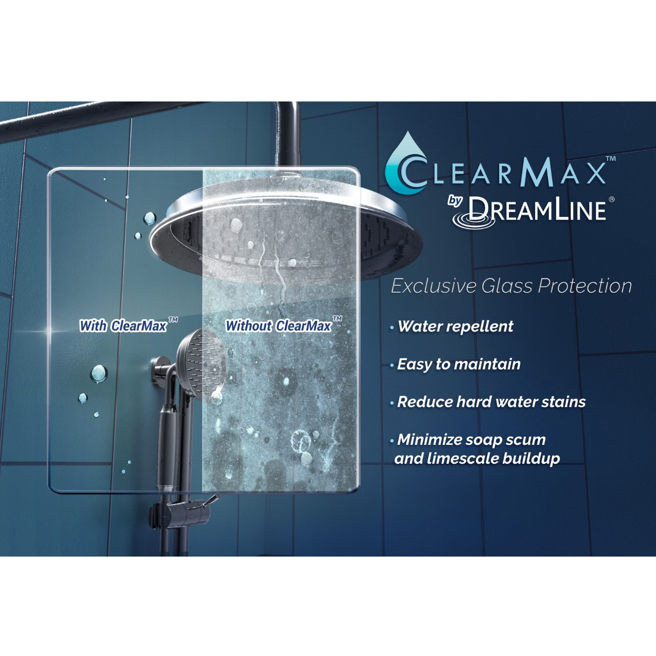 DREAMLINE UNIDOOR MIN 29 in. to Max 30 in. Frameless Hinged Shower ...