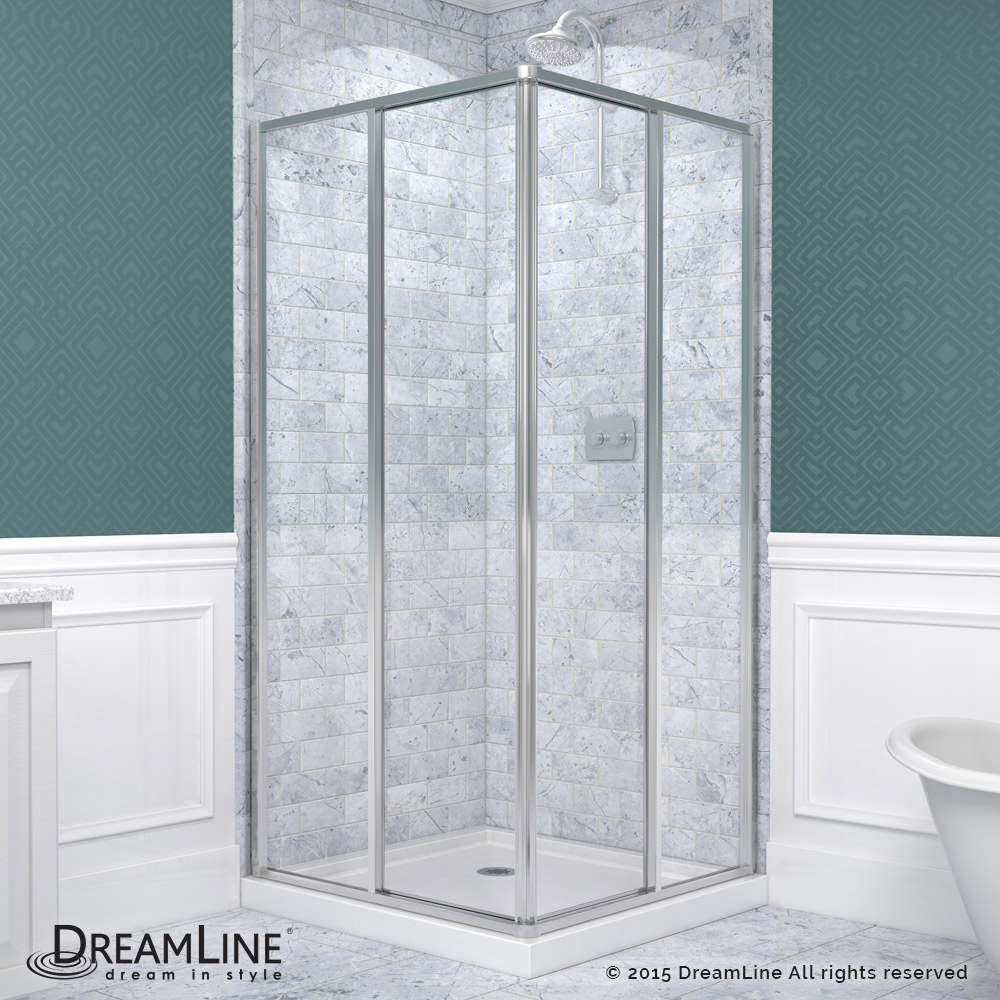 DreamLine showers: Cornerview Sliding Shower Enclosure
