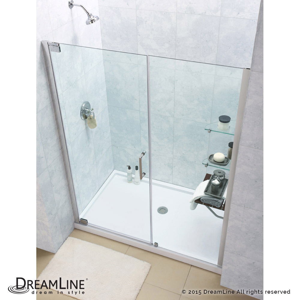 Elegance Pivot Shower Door & Base Kits