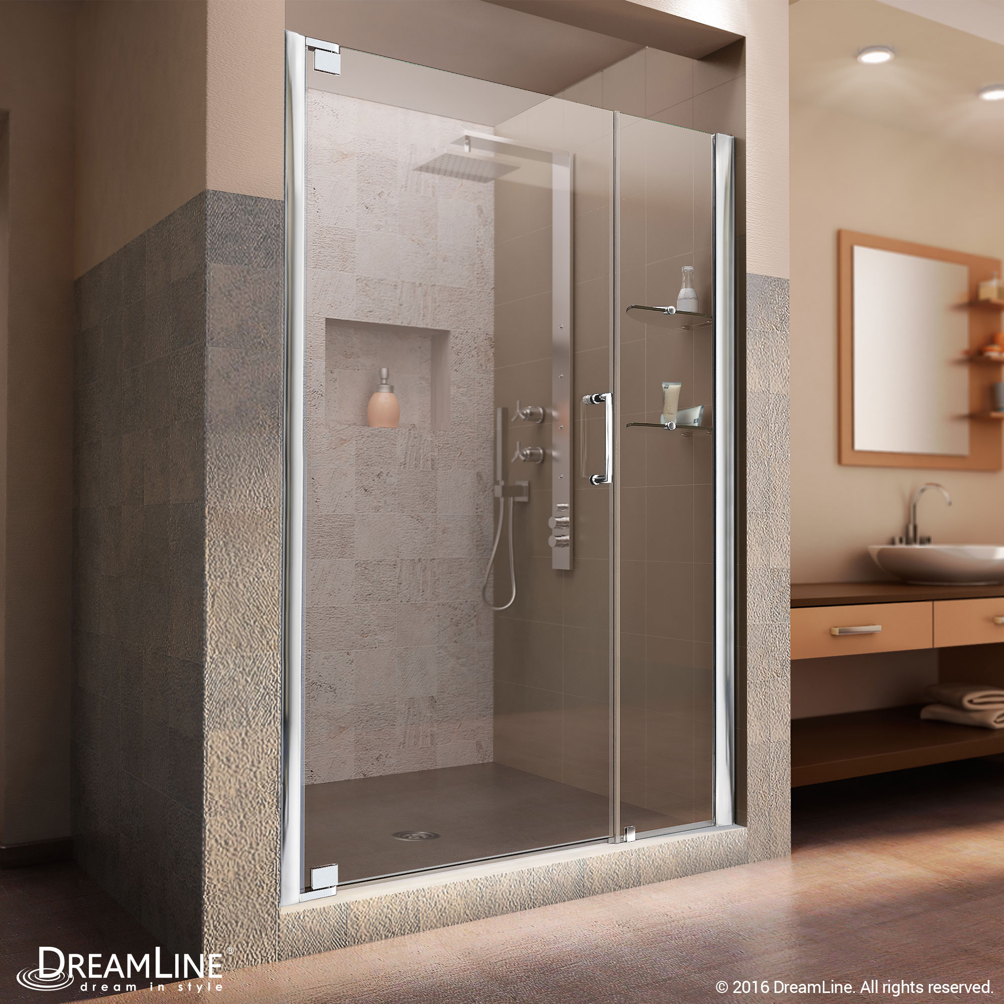 Dreamline Elegance 39 To 41 In Frameless Pivot Shower Door Clear 3
