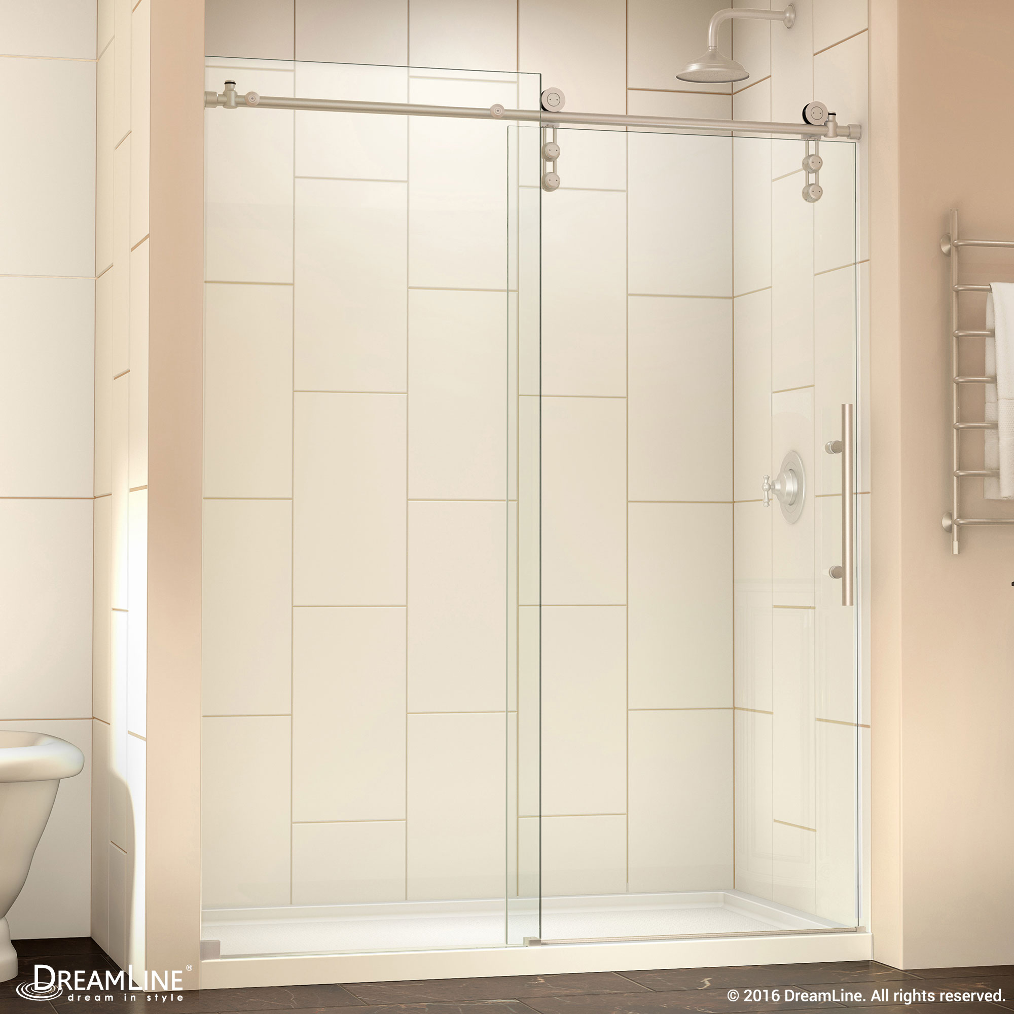 Dreamline Infinity Z 44 To 48 In Frameless Sliding Shower Door Ebay