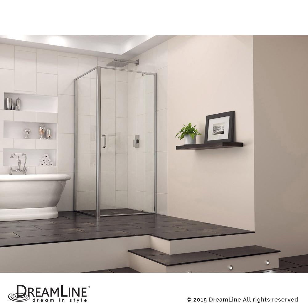 Flex Pivot Shower Door With Return Panel