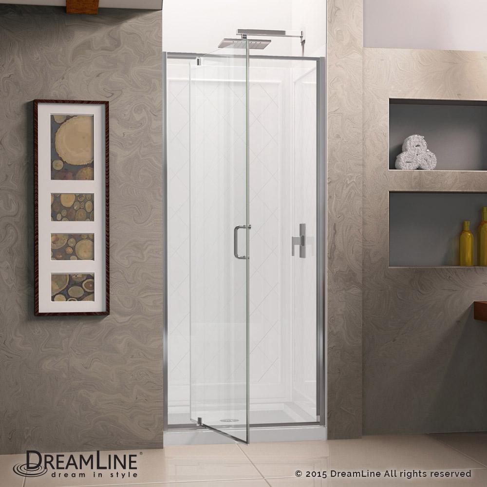 flex pivot shower door base backwall kits. Black Bedroom Furniture Sets. Home Design Ideas