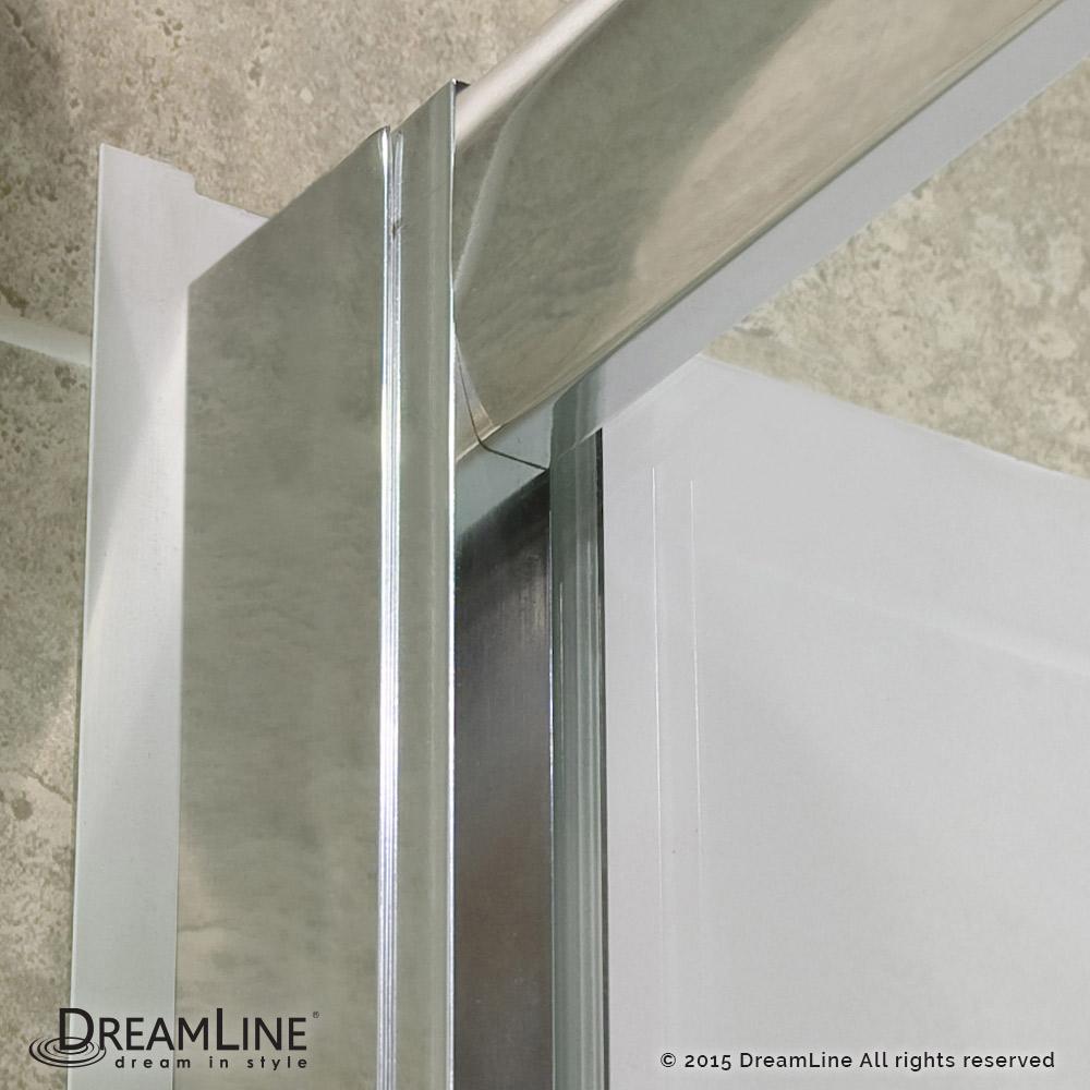 DREAMLINE INFINITY-Z FRAMELESS Sliding Shower Door and SlimLine 30 ...