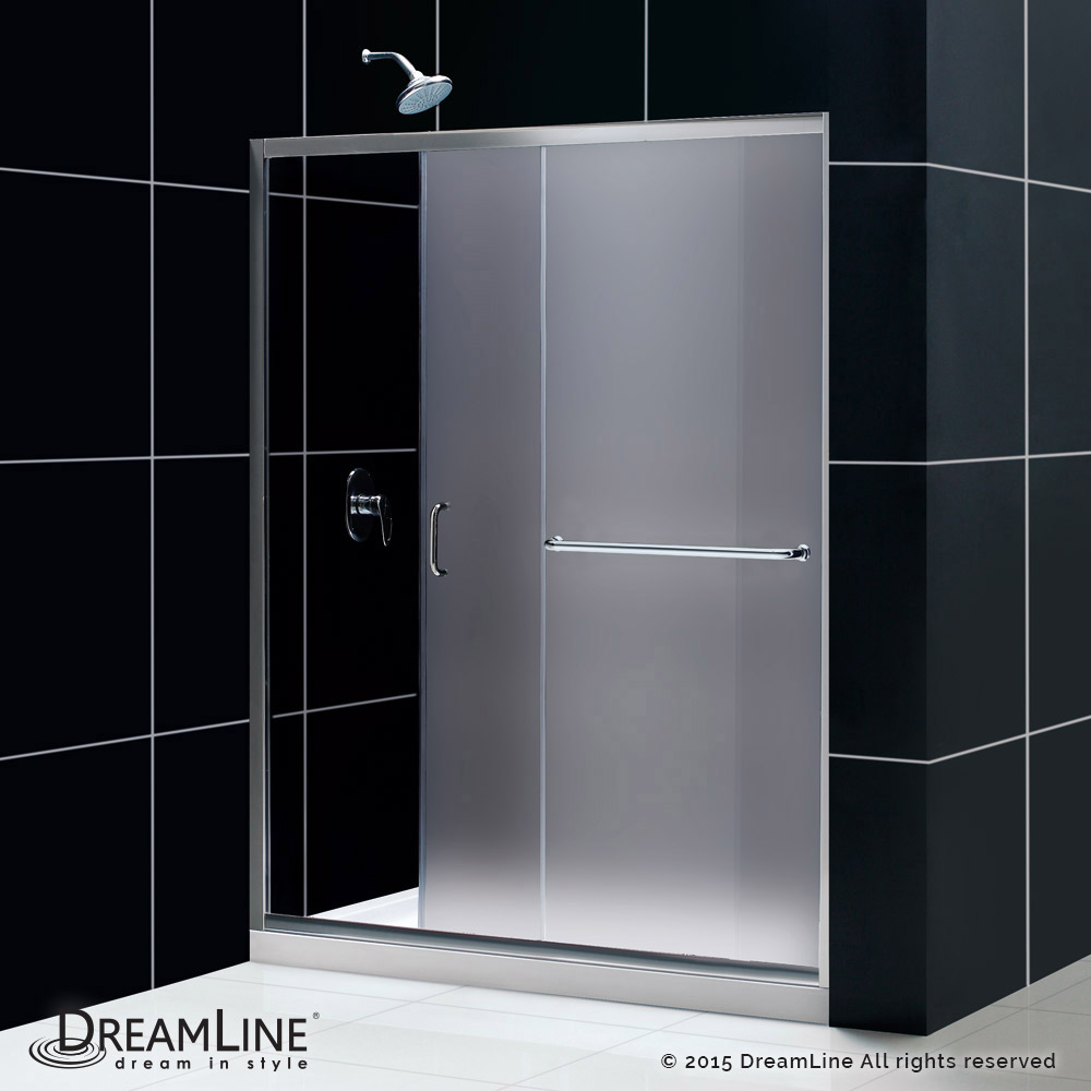 Image Is Loading Dreamline Infinity Z Frameless Sliding Shower Door And