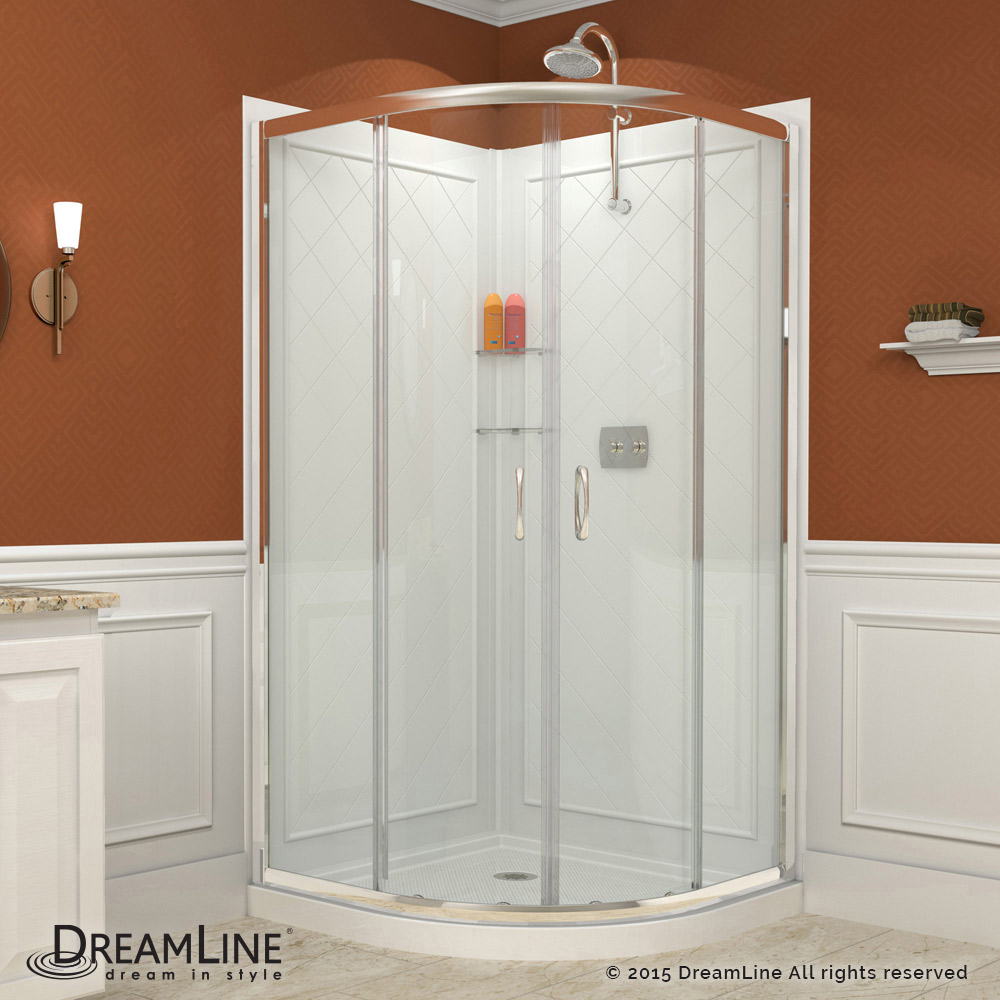 Prime Sliding Shower Enclosure Base Backwall Kits