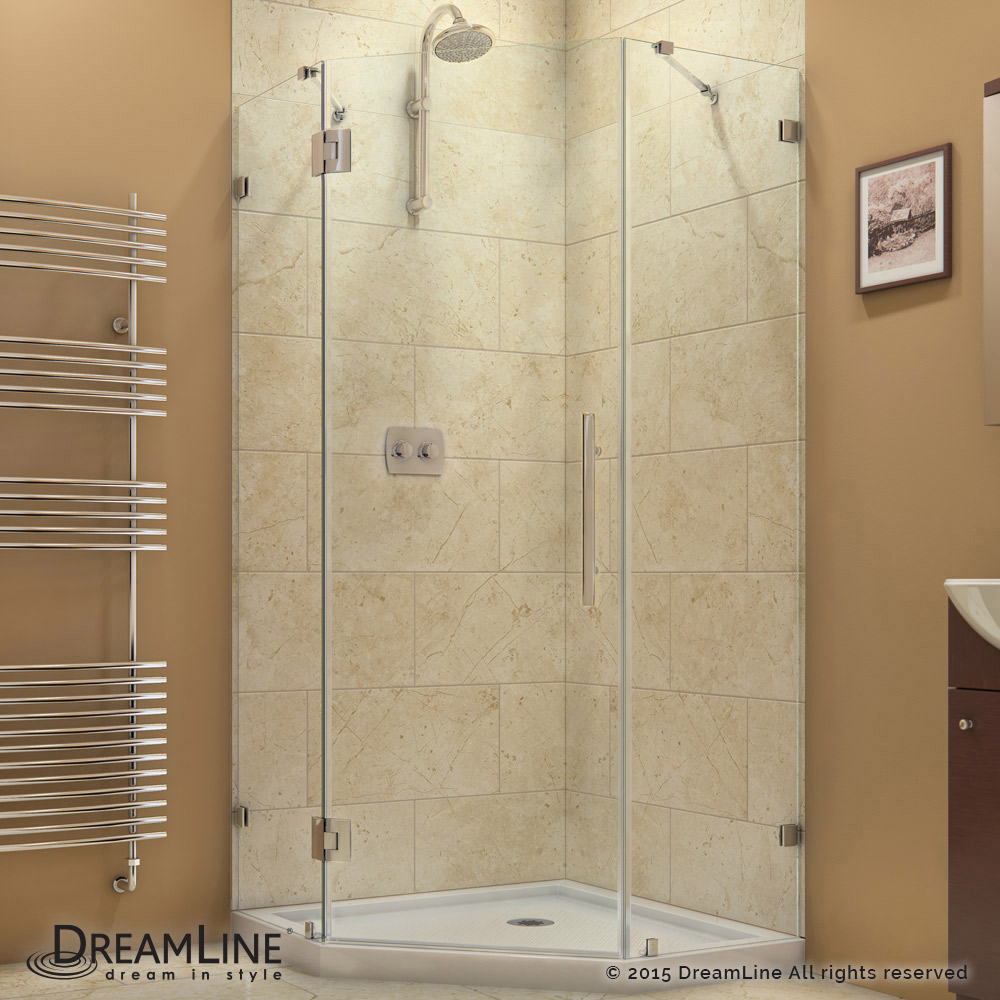 DreamLine showers: PrismLux Hinged Shower Enclosure