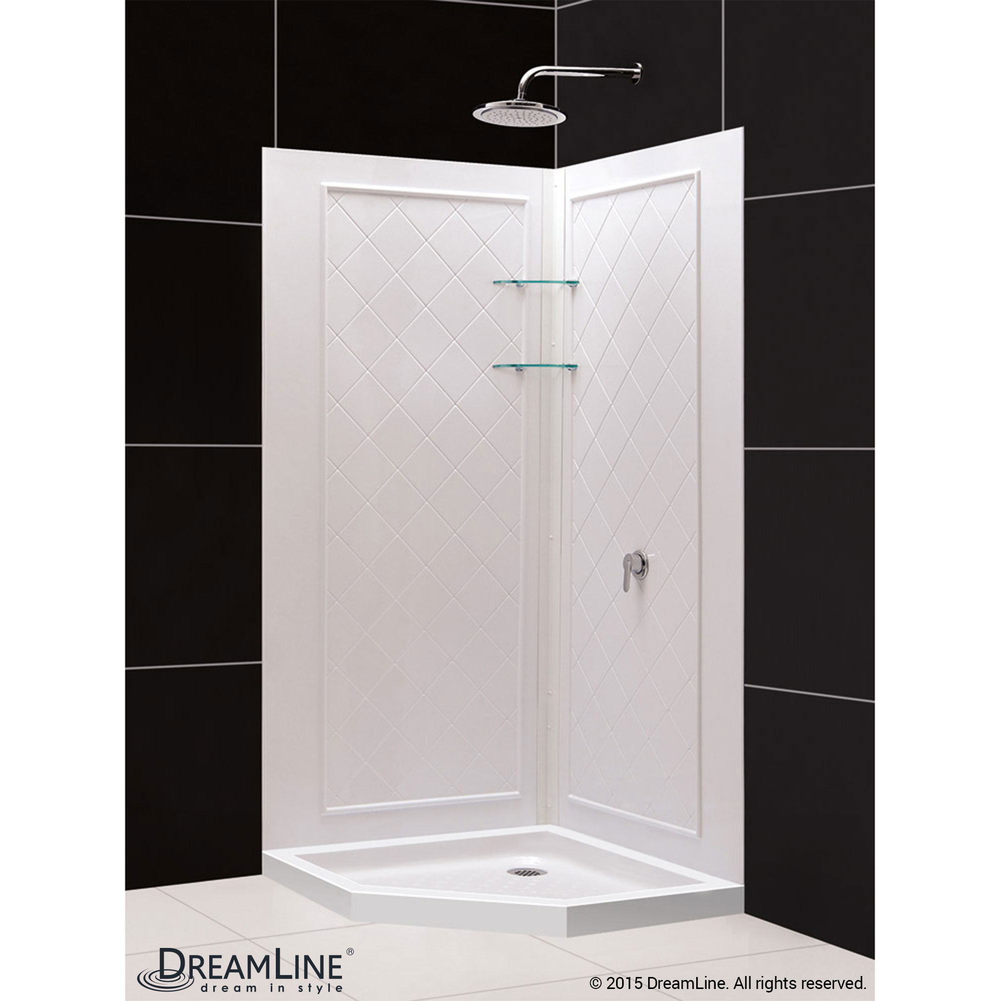 Shower Base & Backwall Kit QWALL-4