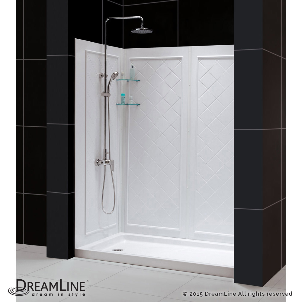 dreamline showers qwall 5 shower backwalls kit. Black Bedroom Furniture Sets. Home Design Ideas