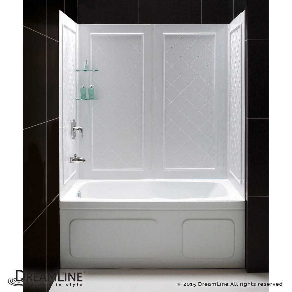 DREAMLINE 56 To 60 CHARISMA SLIDING TUB SHOWER GLASS DOOR AND WALL