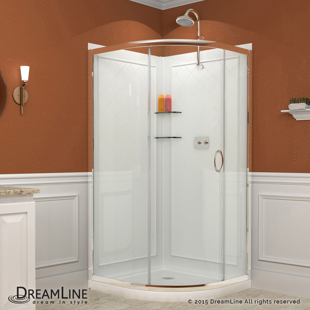 Solo Sliding Shower Enclosure, Base & Backwall Kits