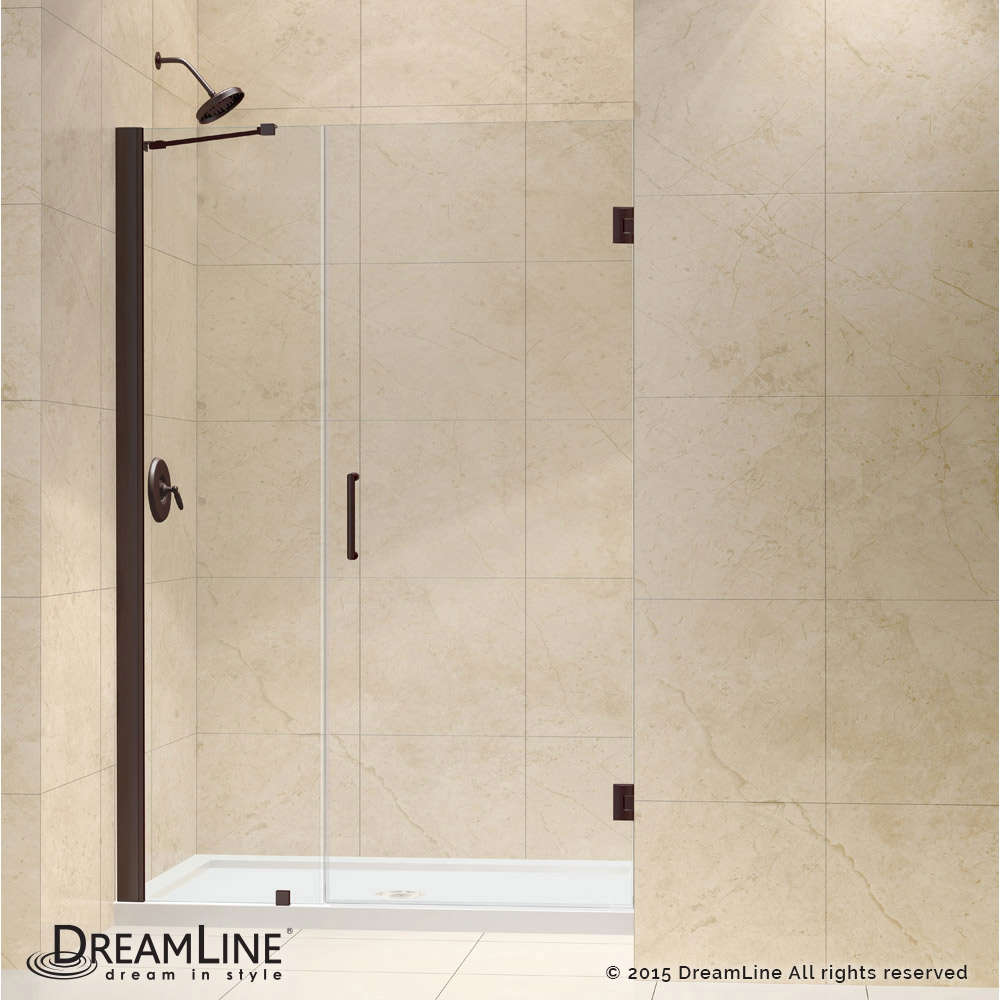 Shower door dreamline bathroom shower doors frameless glass shower - Hinged Shower Door