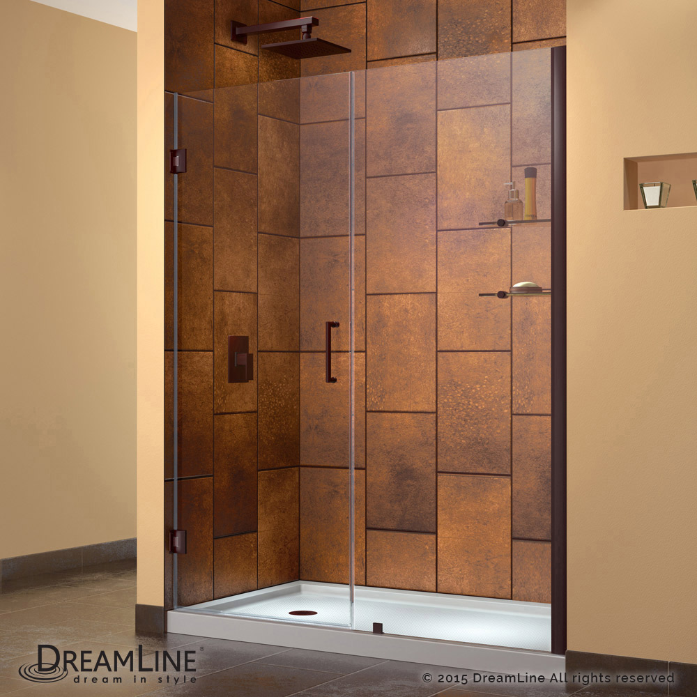Frameless glass door hinges - Hinged Shower Door