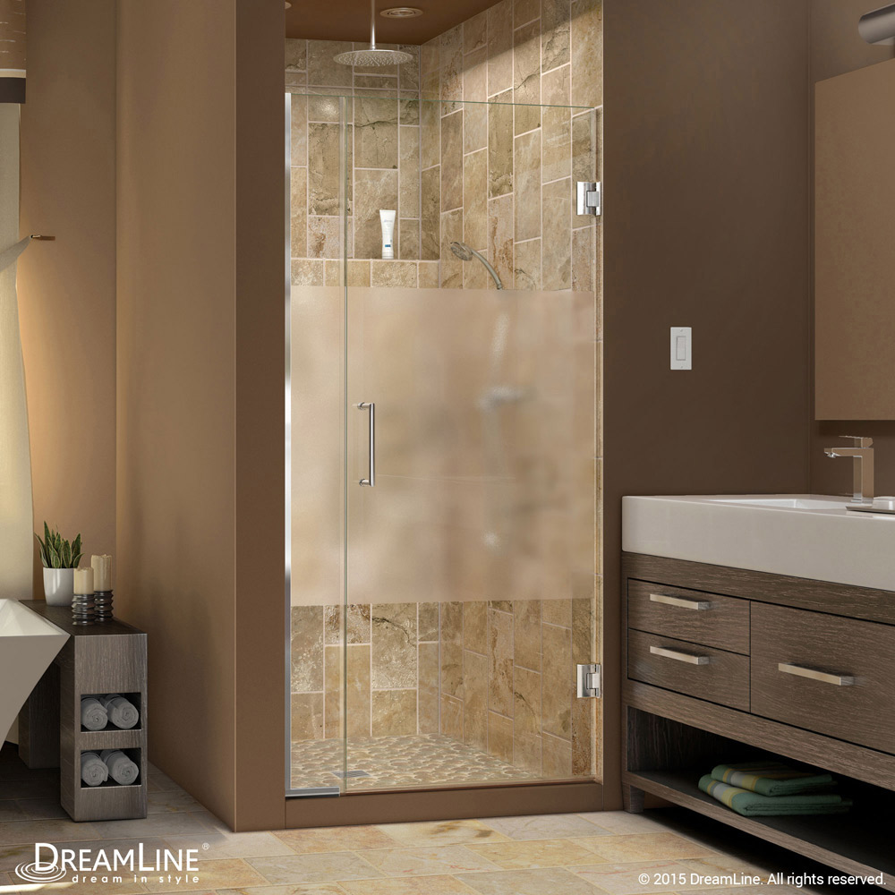Unidoor Plus Half Frosted Glass Shower Door