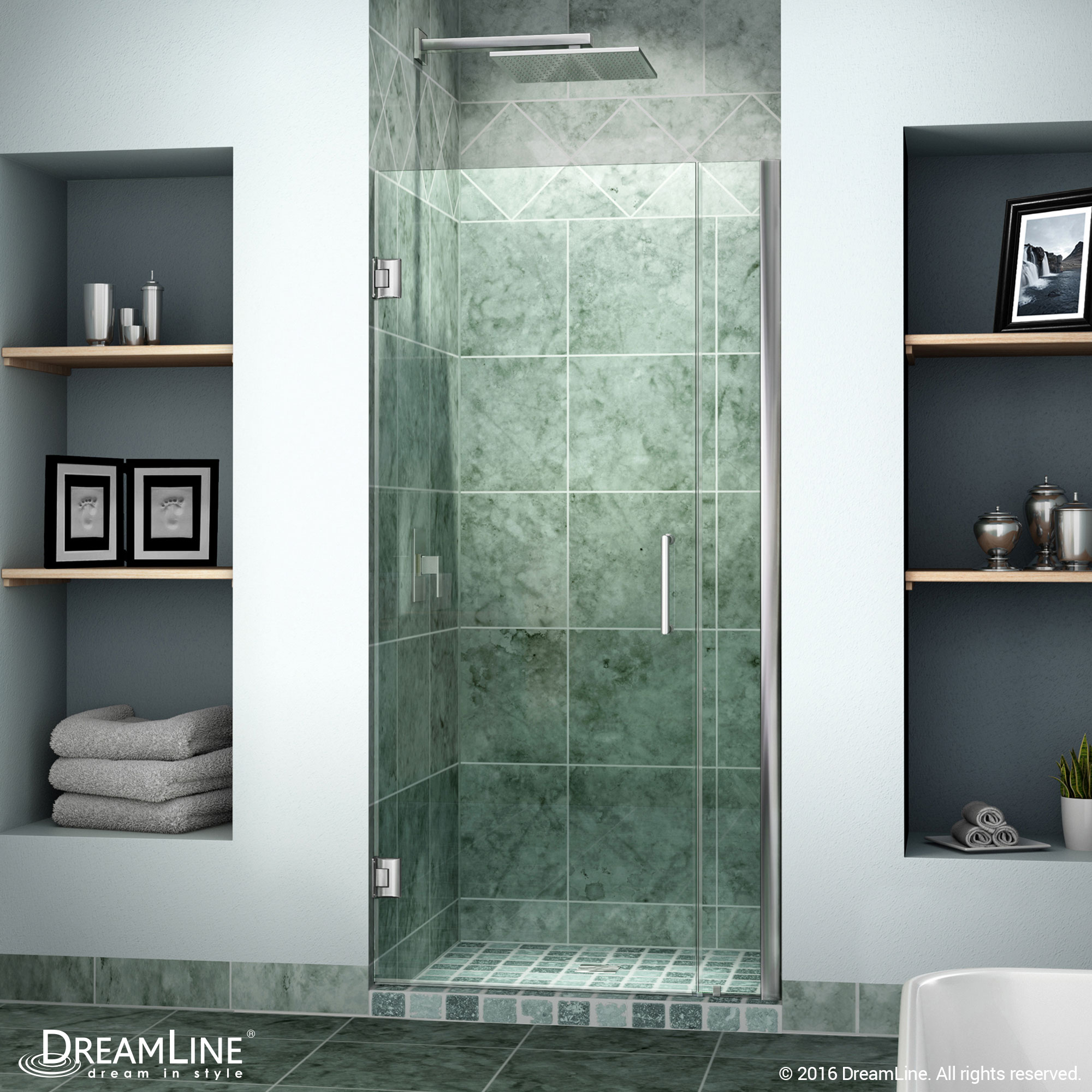 Dreamline Unidoor Min 29 In To Max 30 In Frameless Hinged Shower