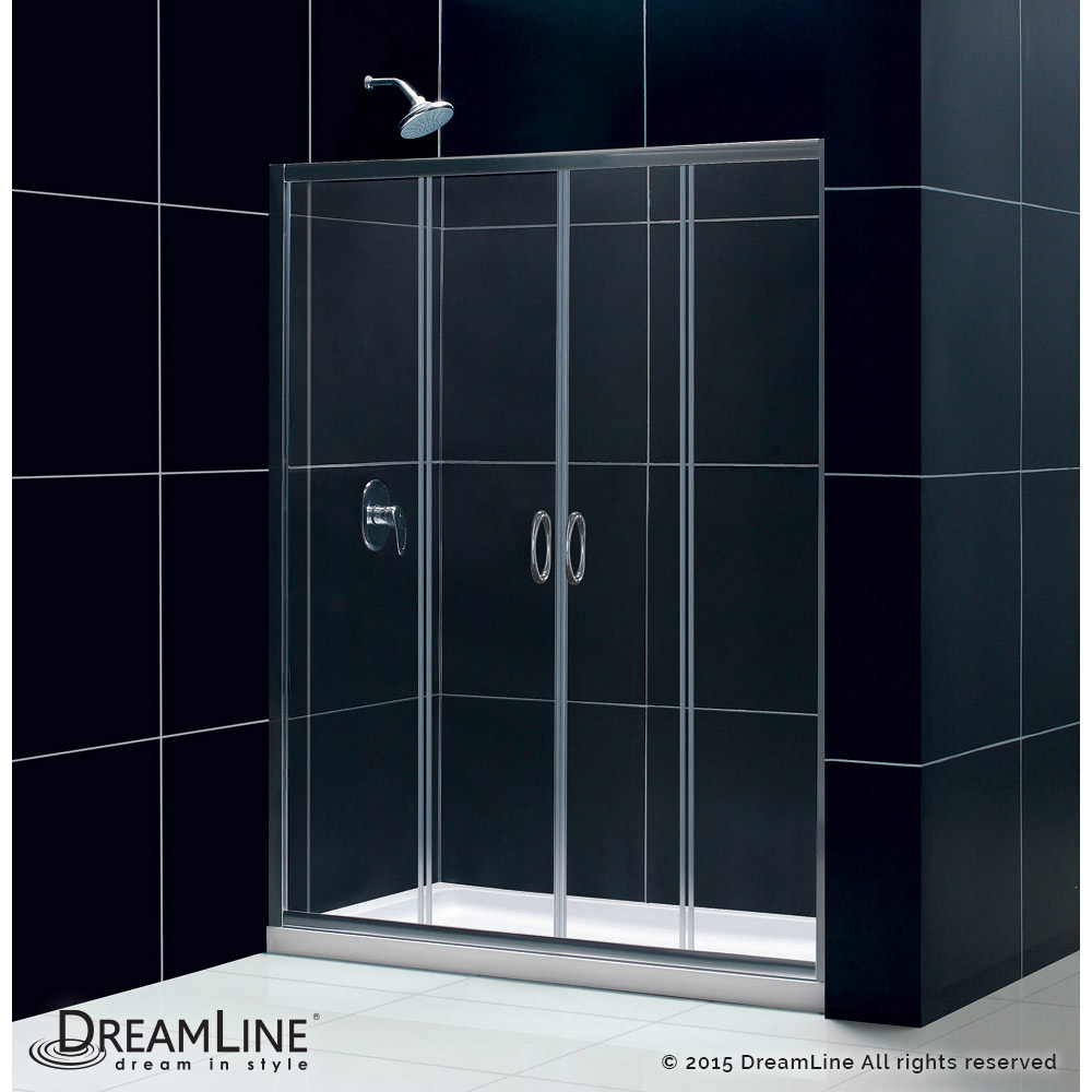 DreamLine showers: Visions Sliding Shower Door & Base Kits