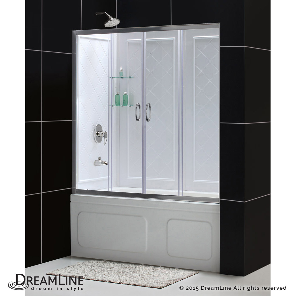 DreamLine showers: Visions Sliding Tub Door & Backwalls