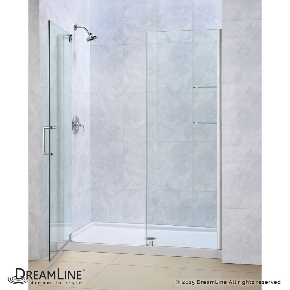Shower door dreamline bathroom shower doors frameless glass shower - Pivot Shower Door