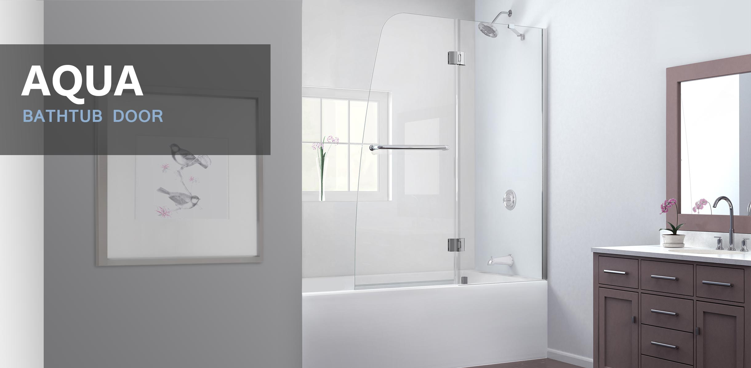 Shower Doors And Hinged Frameless Doors   DreamLine Showers