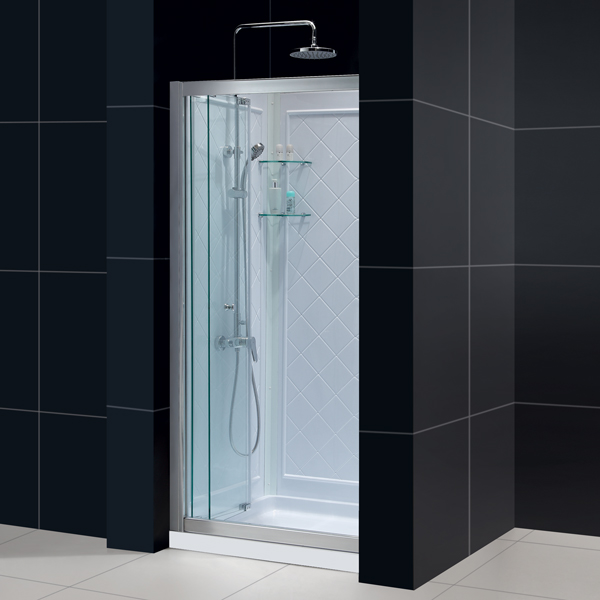 Butterfly bi fold shower door base backwall kits - Walk in shower base kit ...