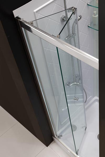 34 36 Quot Bifold Frameless Glass Shower Door Tempered Chrome