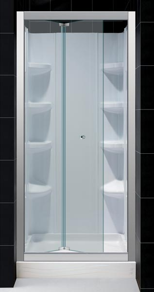 Dreamline Showers Butterfly Frameless Sliding Shower Door Bi Fold