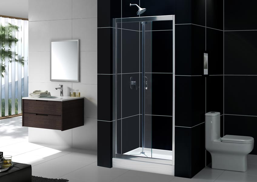 DreamLine Showers| Butterfly Frameless Sliding Shower Door. Bi-Fold ...