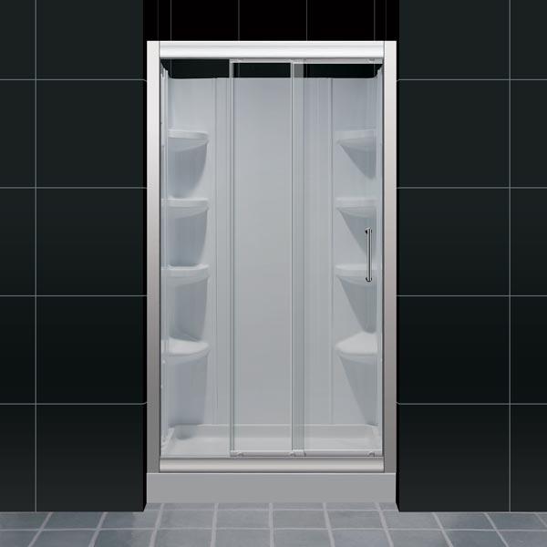 Illusion Frameless Sliding Shower Door Dreamline Bathroom Shower Doors Frameless Glass Shower