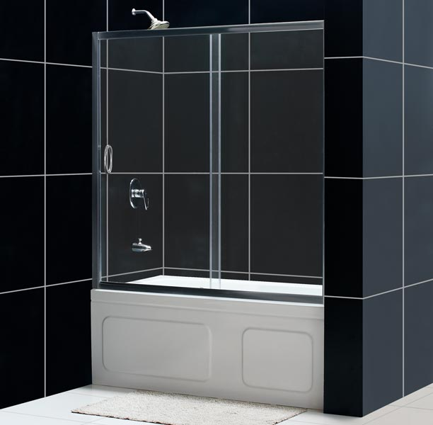 DreamLine Showers: Infinity Shower Door. Frameless Bathtub Door.