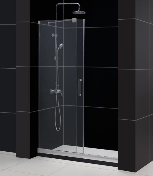 Mirage frameless sliding shower door dreamline bathroom Sliding glass shower doors