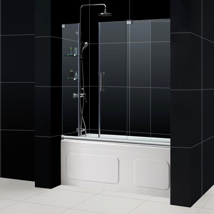 Mirage Frameless Sliding Shower Door DreamLine Bathroom Shower Doors Framel