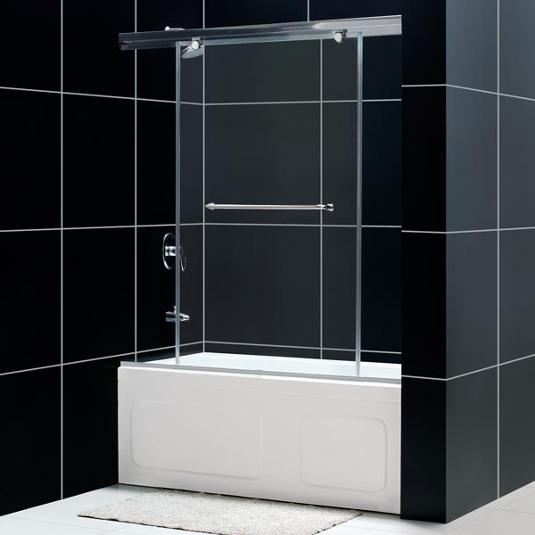 56 60 x58 torrero 3 8 glass single sliding tub shower door ebay