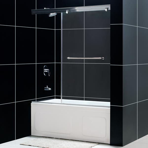 Torero frameless sliding tub door