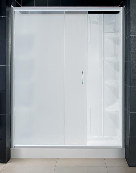 infinity shower door frosted glass u0026 backwall