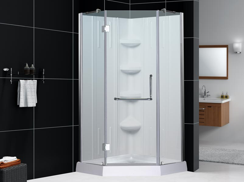 NEO Shower Enclosure With NEO Base NEO Enclosure With Qwall 2 U0026 NEO Base ...